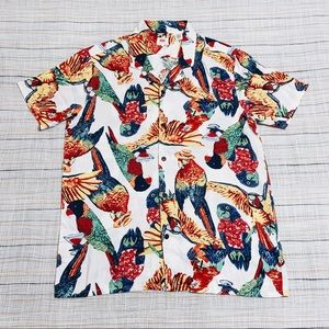LEVIS Mens Cubano Collar Hawaiian Shirt Size L